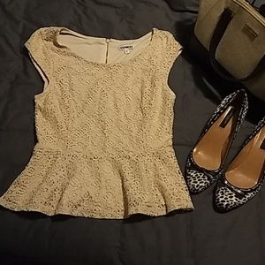 4 for $20 | Express Lace Peplum Top